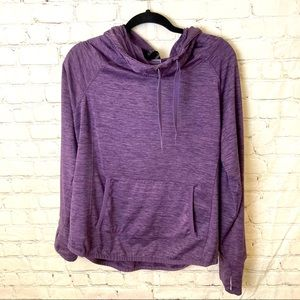 Fitness top with hoodie